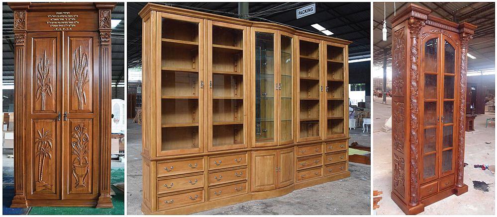 ספריות קודש עם דלתות וזכוכית